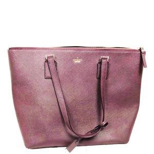 Kate Spade Plum Shoulder Zipper Bag